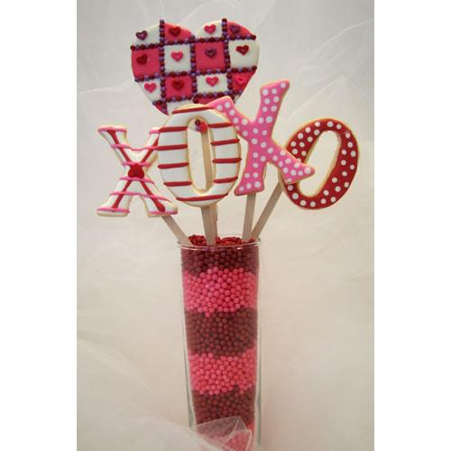 Cool Valentine Cookie Bouquet » Decorated Cookie Bouquet