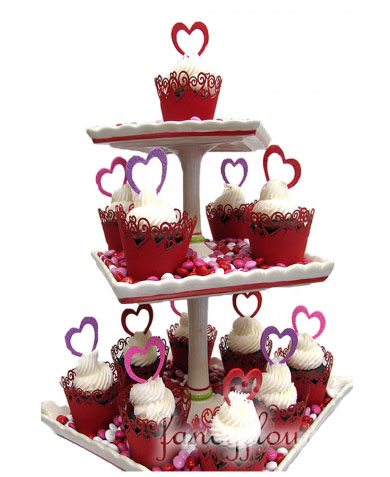 Pictures Of Valentines Cupcakes. Be My Valentine Cupcake Tower