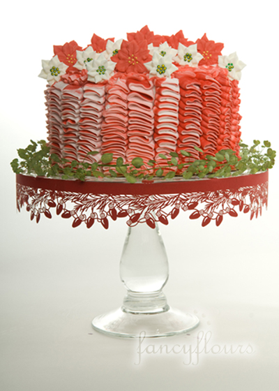 poinsettia cake full