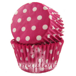 pink dot muffin cup