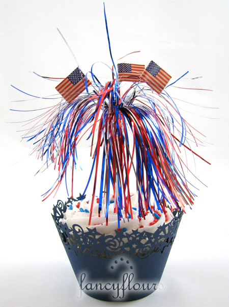 blue stars cupcake wrappers