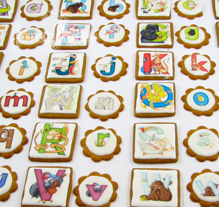 alphabet wafer paper cookies