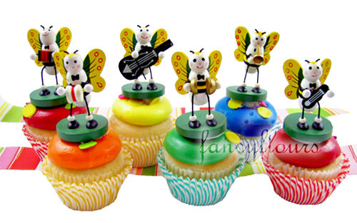 Musical Bee Cupcakes