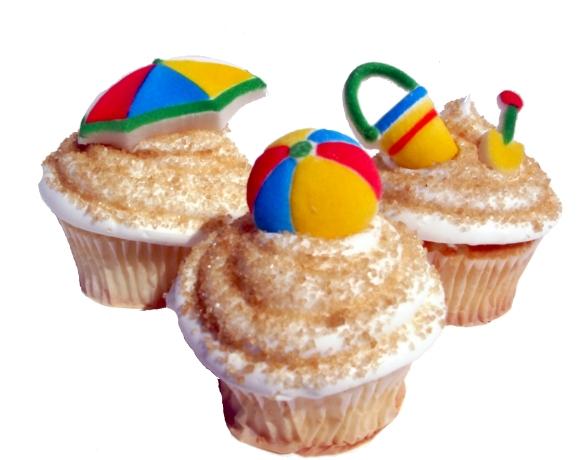 cupcakes beach time