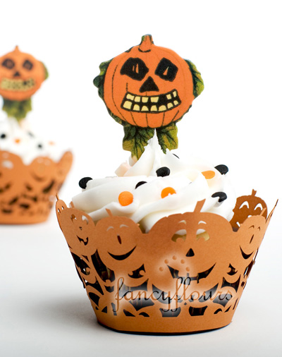 pumpkin cupcake wraps