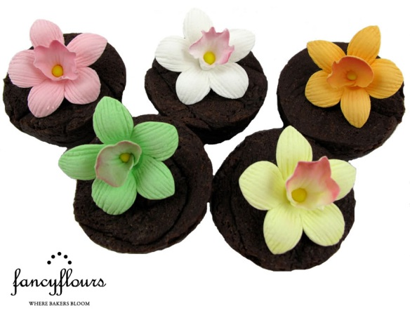 Orchid Cupcake Decorations
