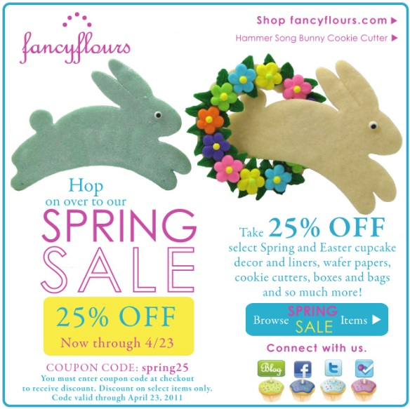 Fancy Flours: Spring Sale
