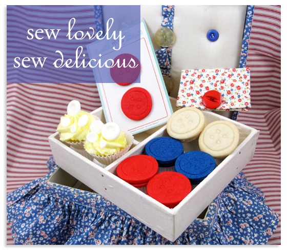 Nana's Sewing Basket and Button Cookies