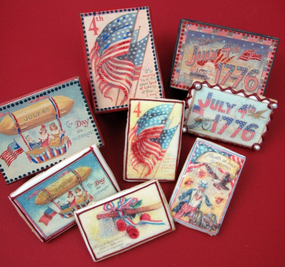 Mini Patriotic Postcards Wafer Paper