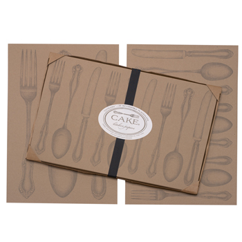 Cutlery Paper Place Mats