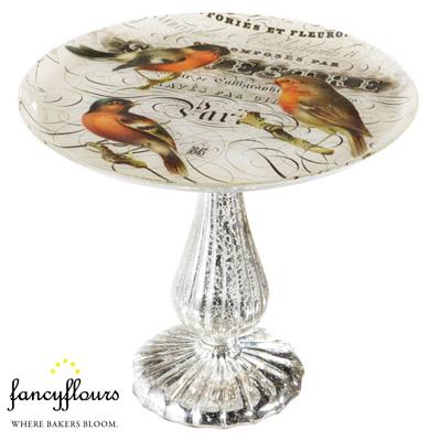 Pedestal Bird Cake Plate