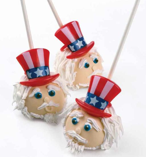 Uncle Sam Cake Pops
