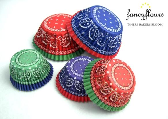 Paisley Bandana Cupcake Liners