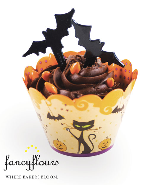 Front Cover - Reversible Halloween Cupcake Wrappers