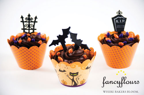 Reversible Halloween Cupcake Wrappers
