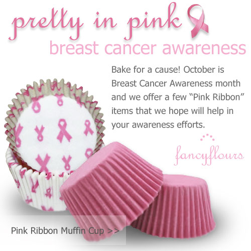 Pink Ribbon Muffin Cup