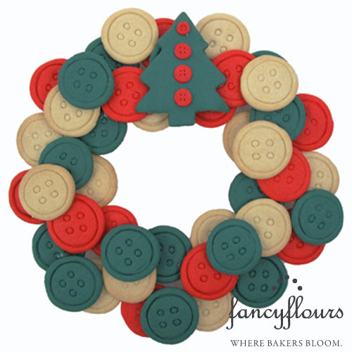 Button Cookie Wreath