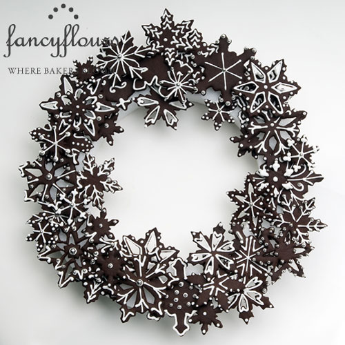 Cookie Snowflake Wreath