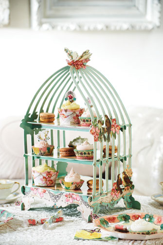 3 Tier Birdcage Pastry Stand