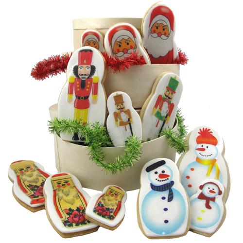Merry Matryoshka Nesting Dolls Wafer Paper