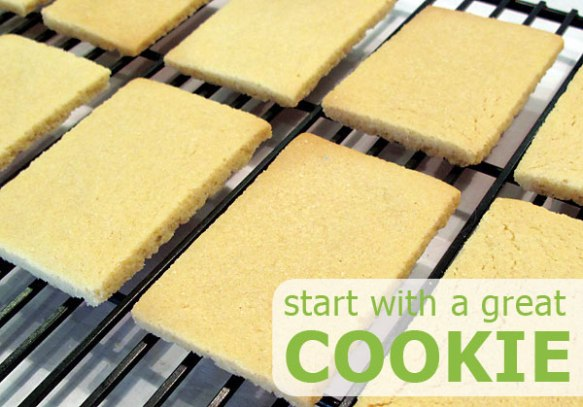 Start with a great cookie. No Fail Sugar Cookie Recipe.