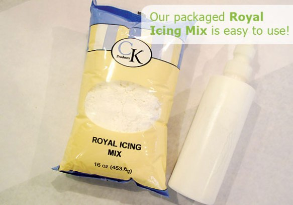 Royal Icing mix is easy to use.