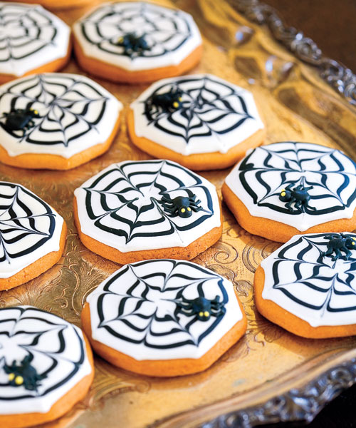 spiderweb spider cookies halloween 1007 s3