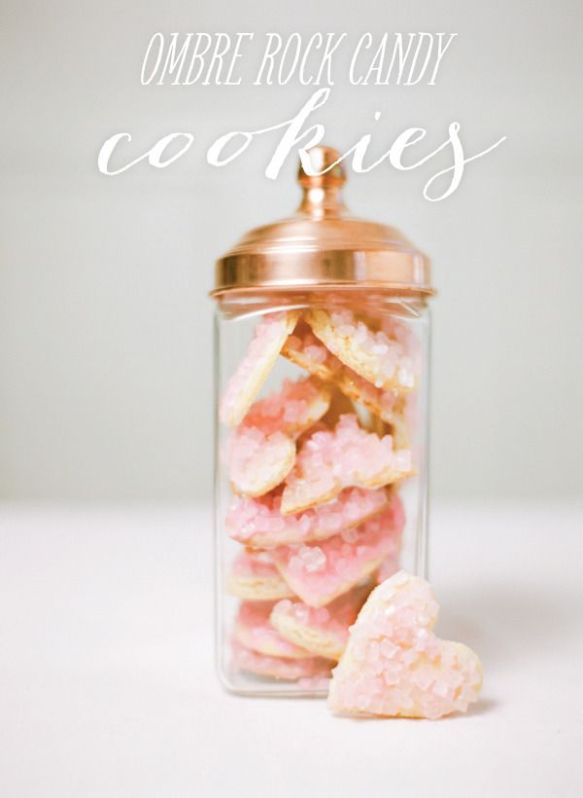 ombre rock candy cookies