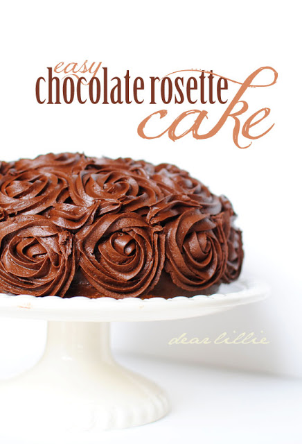 Easy Chocolate Rosette Cake