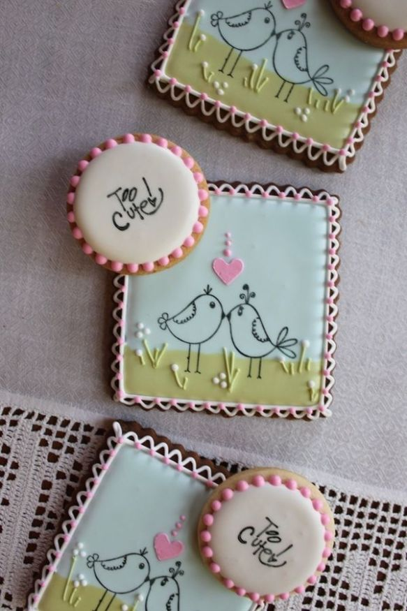 Little Bird Stamped Cookies