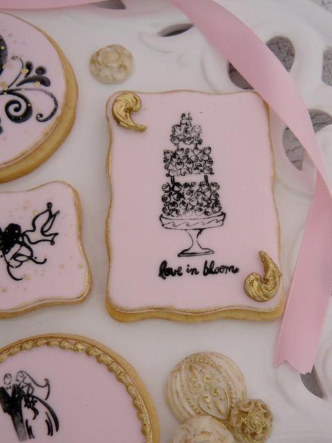 Wedding Stamped Cookies
