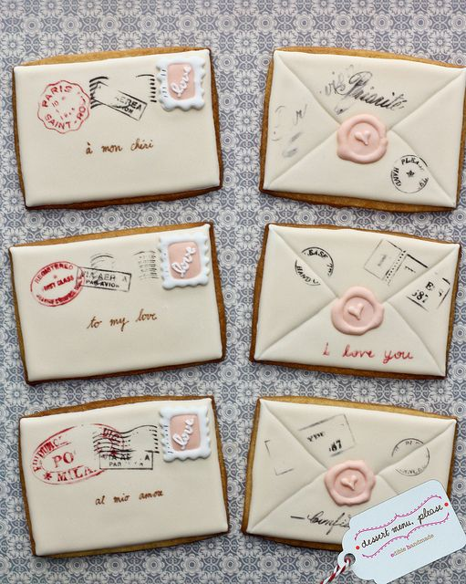 Love Letter Stamped Cookies