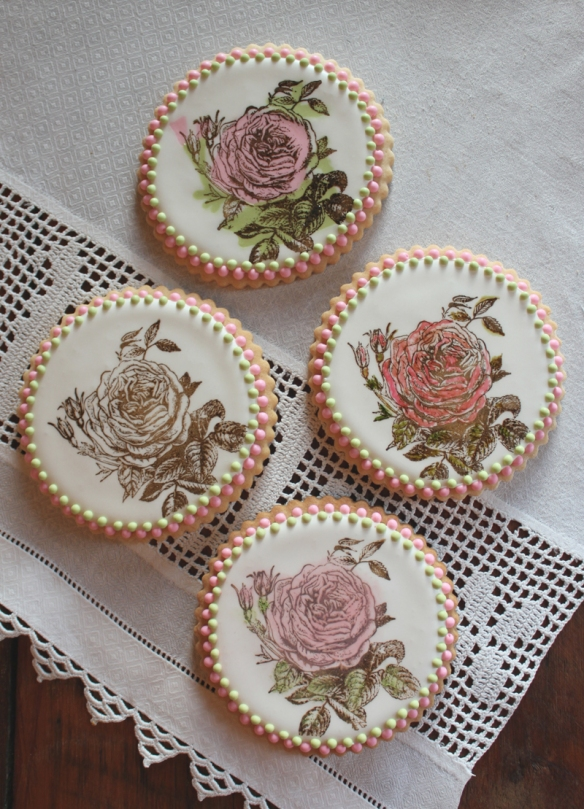 Rose Stamped Cookies