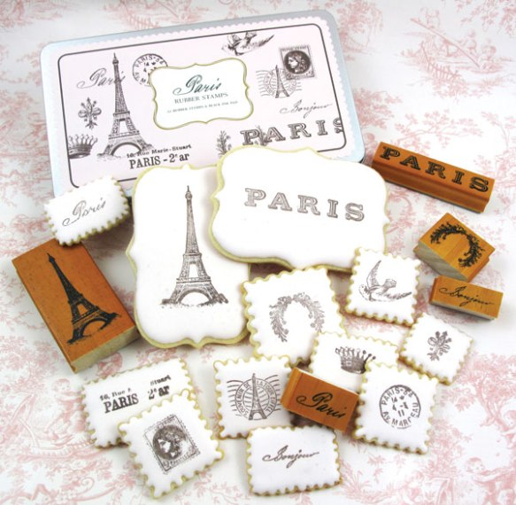 Paris Stamped Cookies