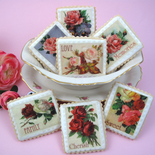 Mother's Day Vintage Stamps Wafer Paper