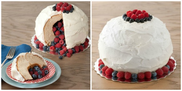 berry filled cake