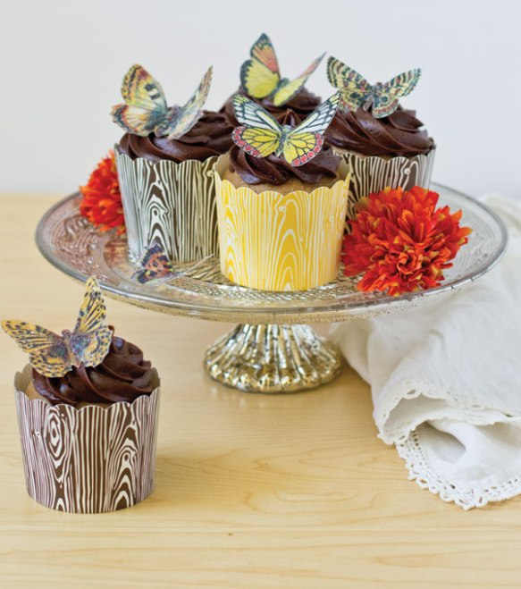 Butterfly Wafer Paper Cupcakes