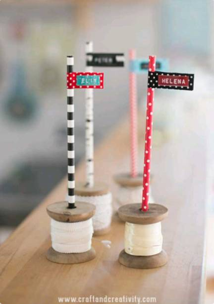 Spool-placecards