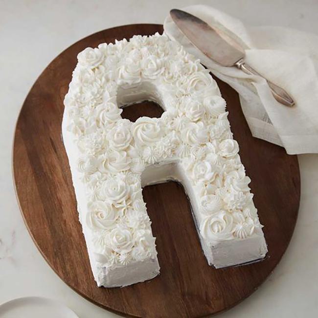 Letter Cake Trend New Pan Fancy Flours Where Bakers
